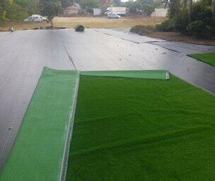 התקנה דשא