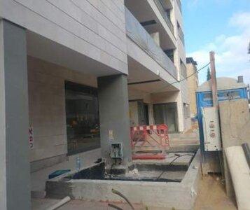 לפני הקמת גינה בבניין תמא